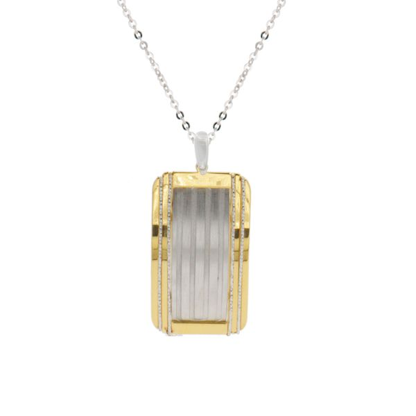 Sterling Silver and Gold Finish Pendant Elgin's Fine Jewelry Baton Rouge, LA