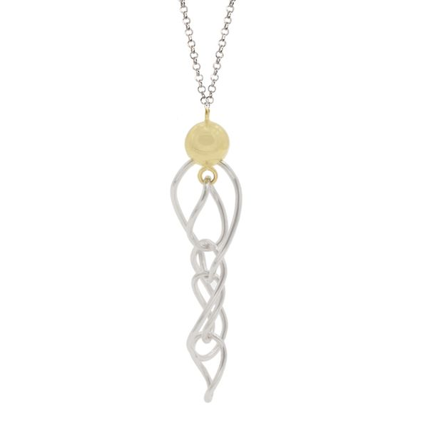 Sterling Silver and Gold Finish Necklace Elgin's Fine Jewelry Baton Rouge, LA