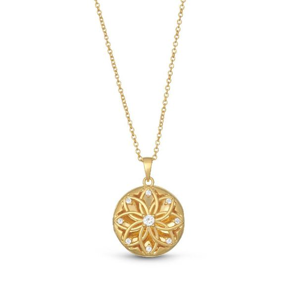 Gold Finish Sterling Silver Locket Elgin's Fine Jewelry Baton Rouge, LA