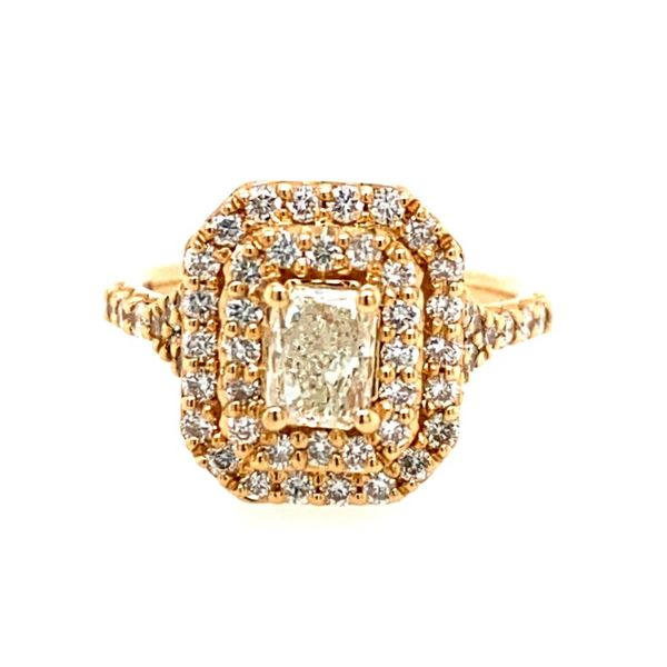 14K Yellow Gold Radiant-Cut Engagement Ring with Halo E.M. Family Smith Jewelers Chillicothe, OH