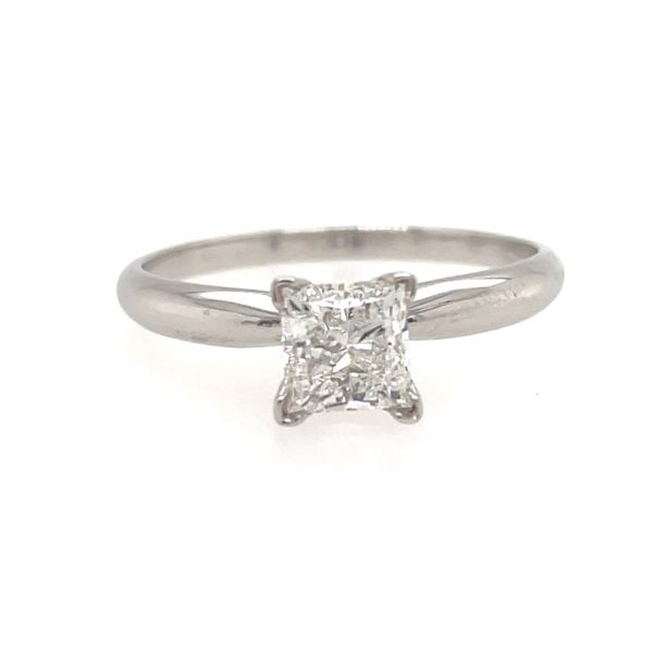 14K White Gold Princess-Cut Solitaire Engagement Ring E.M. Family Smith Jewelers Chillicothe, OH