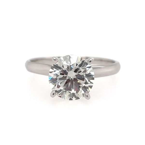 14K White Gold Lab-Grown 2.00 ct Diamond Solitaire Engagement Ring E.M. Smith Family Jewelers Chillicothe, OH