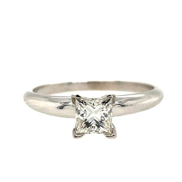14K White Gold Princess-Cut Solitaire Engagement Ring E.M. Smith Family Jewelers Chillicothe, OH