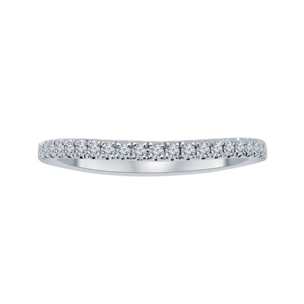 14KW Lab-Grown Diamond Curved Wedding Band E.M. Smith Jewelers Chillicothe, OH