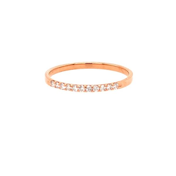 14K Rose Gold Diamond Band E.M. Family Smith Jewelers Chillicothe, OH