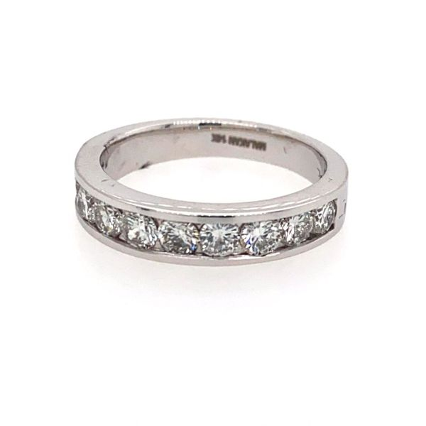 14K White Gold Diamond Channel Band E.M. Family Smith Jewelers Chillicothe, OH
