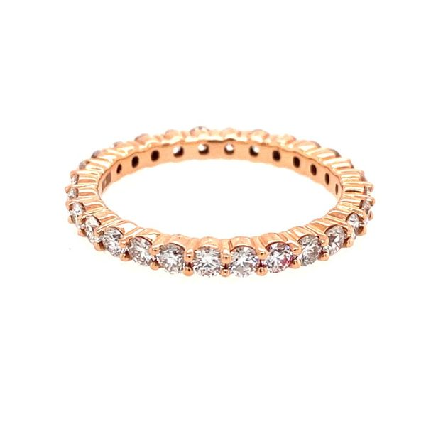 14K Rose Gold Diamond Eternity Band E.M. Smith Family Jewelers Chillicothe, OH