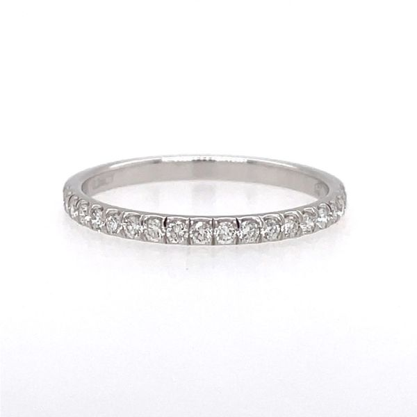 14K White Gold Diamond Wedding Band E.M. Smith Family Jewelers Chillicothe, OH