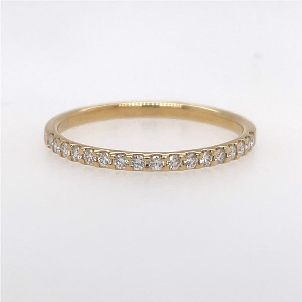 14K Yellow Gold Diamond Wedding Band E.M. Smith Family Jewelers Chillicothe, OH