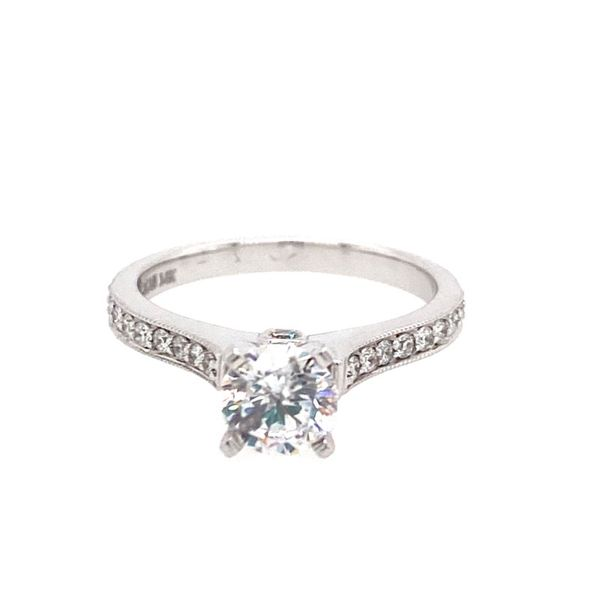 14K White Gold Diamond Solitaire Engagement Ring Semi-Mounting E.M. Family Smith Jewelers Chillicothe, OH