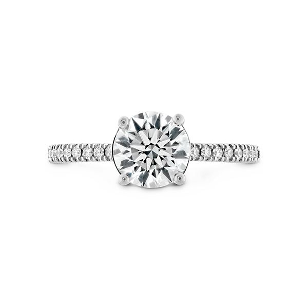 Hearts on Fire Soane Silhouette Diamond Engagement Ring Semi-Mounting E.M. Smith Family Jewelers Chillicothe, OH
