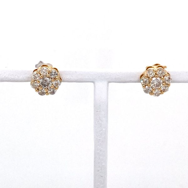 Diamond Cluster Earrings with Halo E.M. Family Smith Jewelers Chillicothe, OH