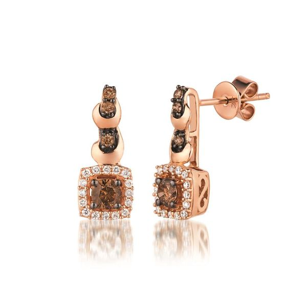 LeVian Chocolatier® Earrings featuring Chocolate Diamonds®  & Vanilla Diamonds® E.M. Family Smith Jewelers Chillicothe, OH