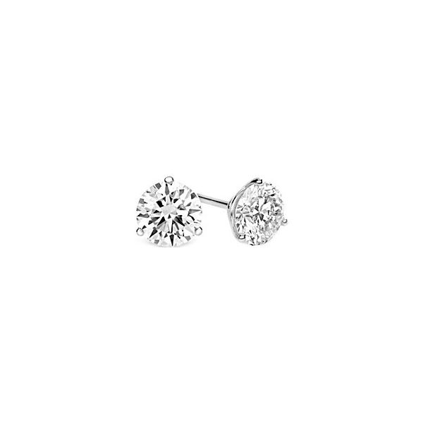 14k White Gold Lab-Grown Diamond Studs E.M. Family Smith Jewelers Chillicothe, OH