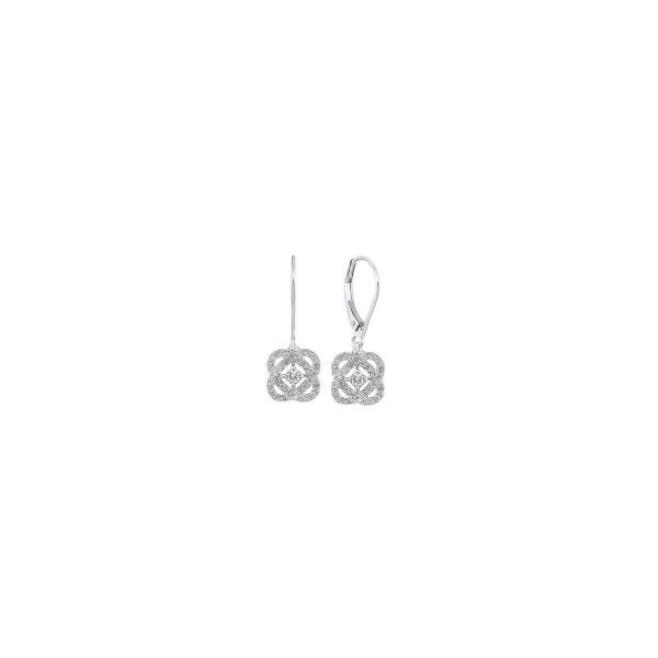 Sterling Silver Diamond Drop Earrings E.M. Smith Family Jewelers Chillicothe, OH