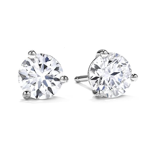 Hearts On Fire 3-Prong Diamond Stud Earrings E.M. Smith Family Jewelers Chillicothe, OH