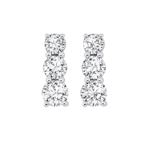 Sterling Silver Diamond Earrings E.M. Smith Family Jewelers Chillicothe, OH