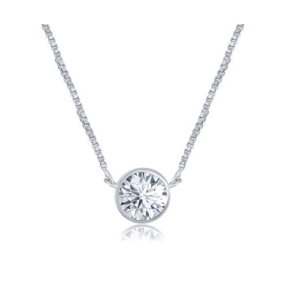 14KW Diamond Solitaire Pendant E.M. Family Smith Jewelers Chillicothe, OH