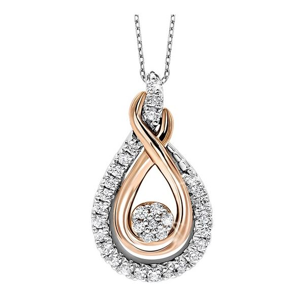 Two-Tone Double Infinity Diamond Pendant E.M. Smith Family Jewelers Chillicothe, OH