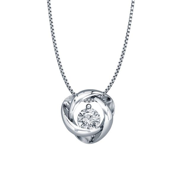 Sterling Silver Time and Eternity Diamond Pendant E.M. Smith Family Jewelers Chillicothe, OH