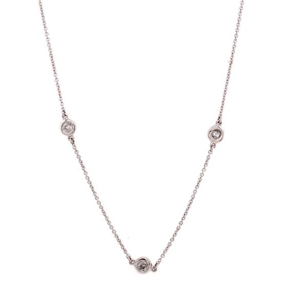 14K White Gold Diamond Station Necklace E.M. Family Smith Jewelers Chillicothe, OH