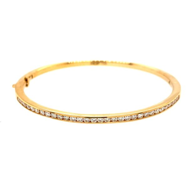 Hearts On Fire Classic Channel Set Bangle Bracelet E.M. Family Smith Jewelers Chillicothe, OH