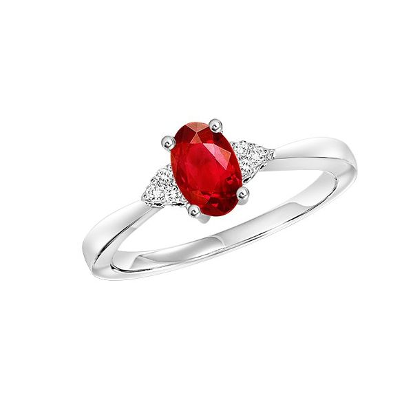 Garnet & Diamond Ring E.M. Family Smith Jewelers Chillicothe, OH