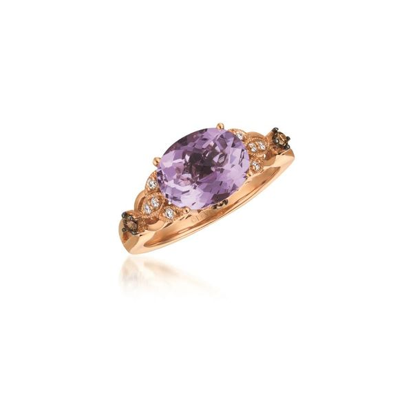 Le Vian Chocolatier® Grape Amethyst™ Ring with Chocolate Diamonds® and Vanilla Diamonds® E.M. Family Smith Jewelers Chillicothe, OH