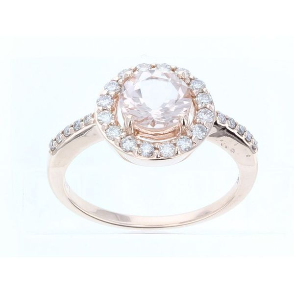 Le Vian Creme Brulee® Peach Morganite™ Ring with Nude Diamonds™ Halo E.M. Family Smith Jewelers Chillicothe, OH
