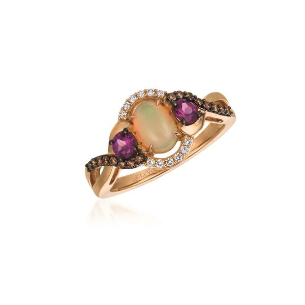 Le Vian Chocolatier® Neopolitan Opal™ Ring with Raspberry Rhodolite® Chocolate Diamonds® and Vanilla Diamonds® accents E.M. Family Smith Jewelers Chillicothe, OH