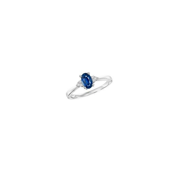 Blue Sapphire & Diamond Ring E.M. Smith Family Jewelers Chillicothe, OH