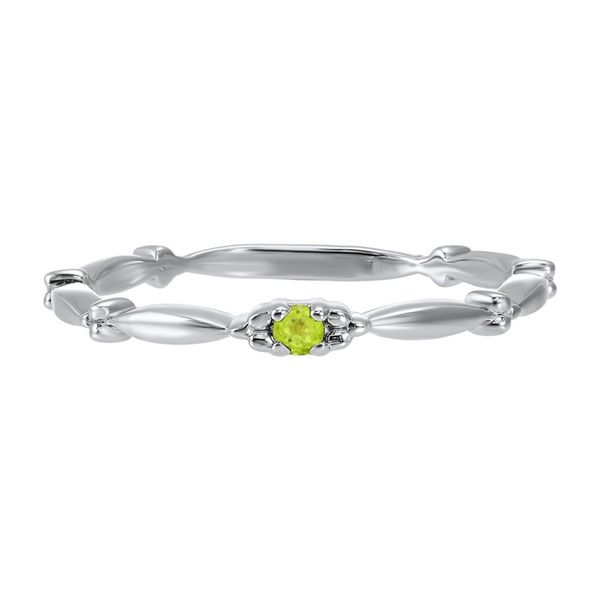 10K White Gold Peridot Stackable Band E.M. Smith Family Jewelers Chillicothe, OH