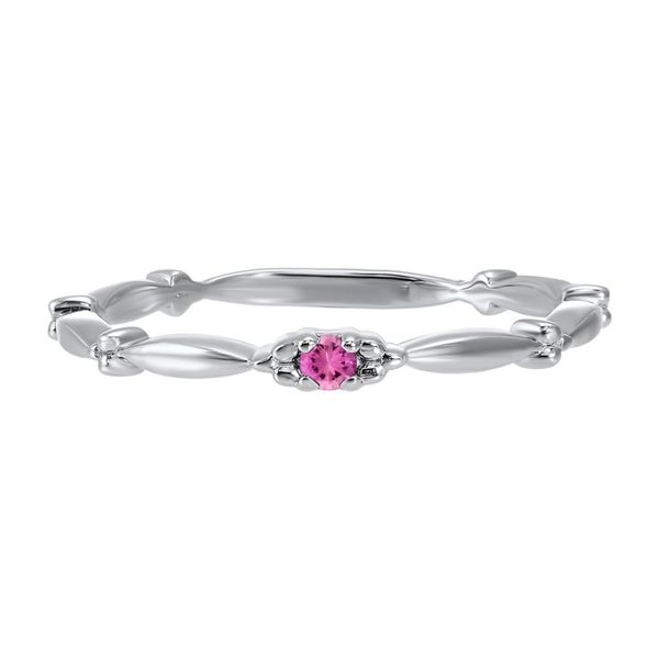 10K White Gold Pink Tourmaline Stackable Band E.M. Smith Family Jewelers Chillicothe, OH