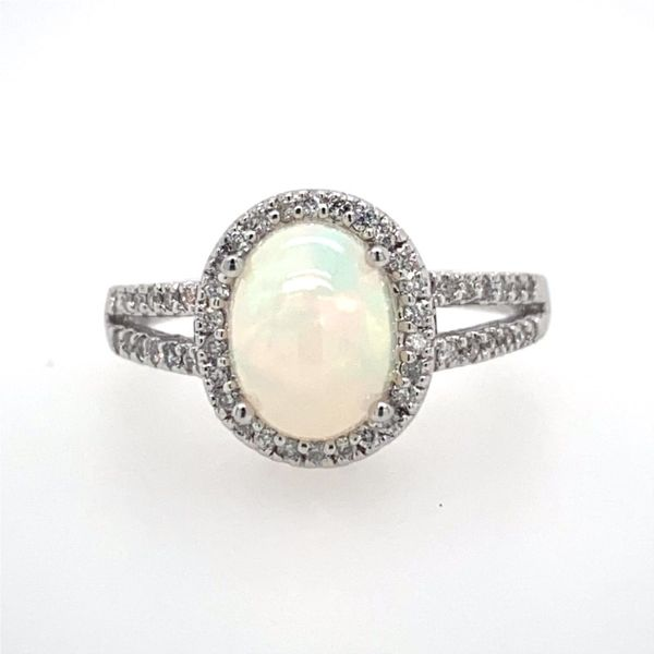 14K White Gold Opal Ring E.M. Smith Family Jewelers Chillicothe, OH