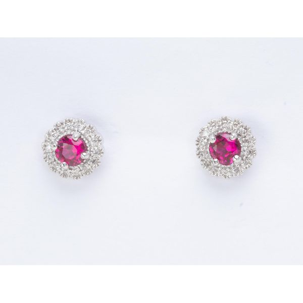 Lab created Ruby and Diamond earrings E.M. Family Smith Jewelers Chillicothe, OH