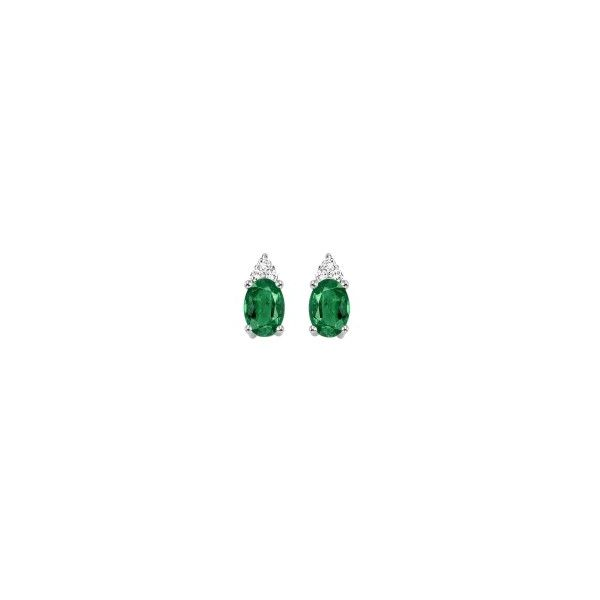 Emerald & Diamond Earrings E.M. Family Smith Jewelers Chillicothe, OH