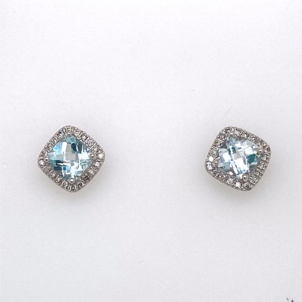 Aquamarine & Diamond Earrings E.M. Family Smith Jewelers Chillicothe, OH