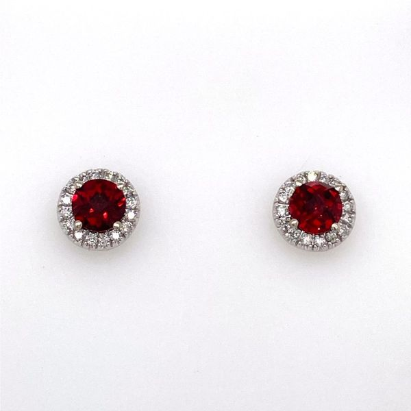 Garnet & Diamond Earrings E.M. Family Smith Jewelers Chillicothe, OH