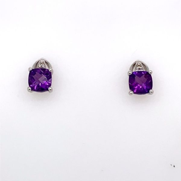 Amethyst & Diamond Earrings E.M. Family Smith Jewelers Chillicothe, OH