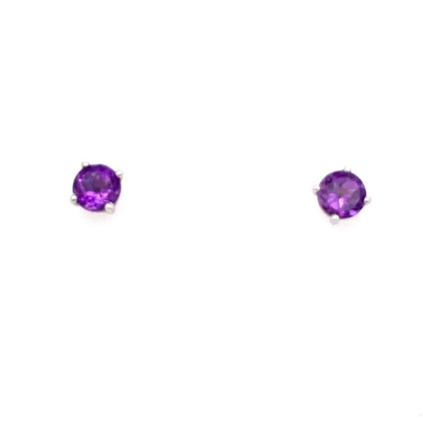10K White Gold Amethyst Stud Earrings E.M. Smith Family Jewelers Chillicothe, OH