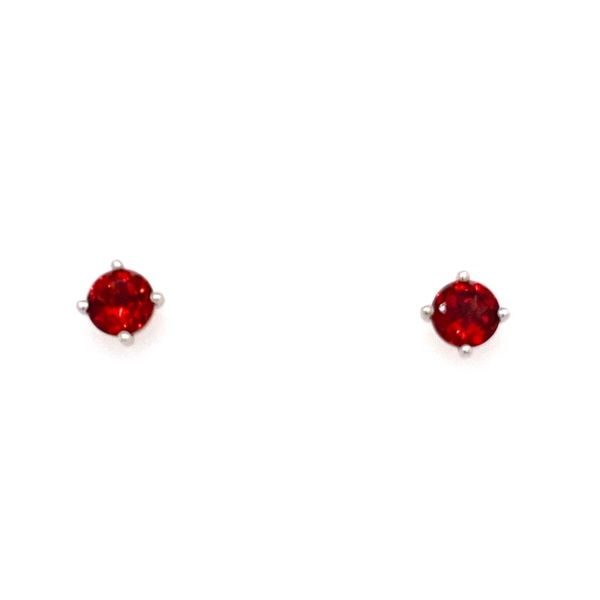 10K White Gold Garnet Stud Earrings E.M. Smith Family Jewelers Chillicothe, OH