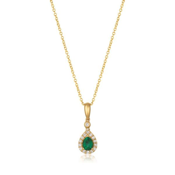 LeVian Costa Smeralda Emerald Pendant with Vanilla Diamonds® E.M. Family Smith Jewelers Chillicothe, OH