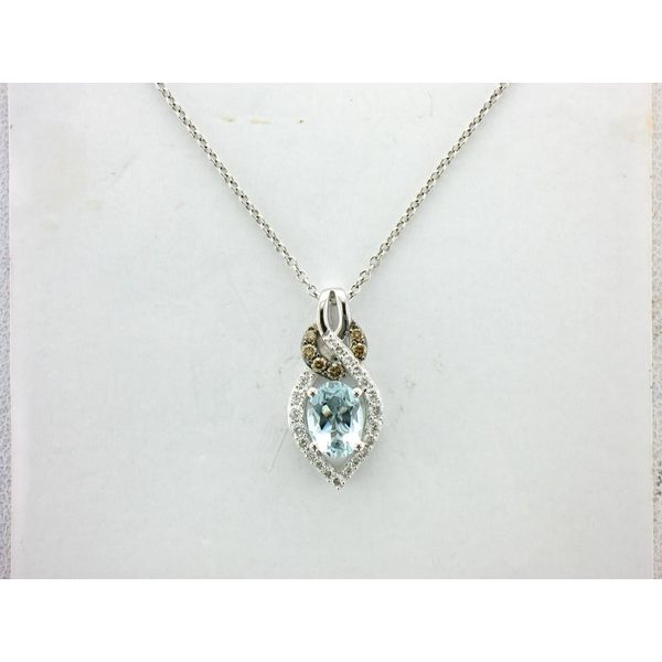 Le Vian Chocolatier® Sea Blue Aquamarine® Pendant with Vanilla Diamonds® & Chocolate Diamonds® E.M. Family Smith Jewelers Chillicothe, OH