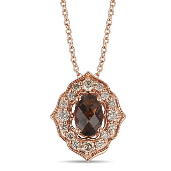 Le Vian Creme Brulee® 14K Strawberry Gold® Chocolate Quartz® Penant with Nude Diamonds™ E.M. Smith Family Jewelers Chillicothe, OH