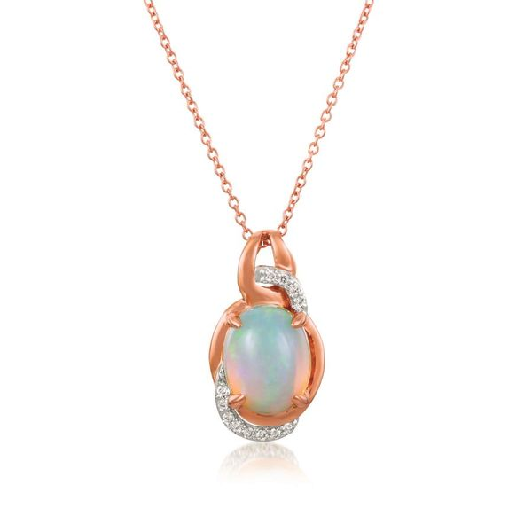 Le Vian® 14K Strawberry Gold® Neopolitan Opal™ Necklace with Vanilla Diamonds® E.M. Smith Family Jewelers Chillicothe, OH