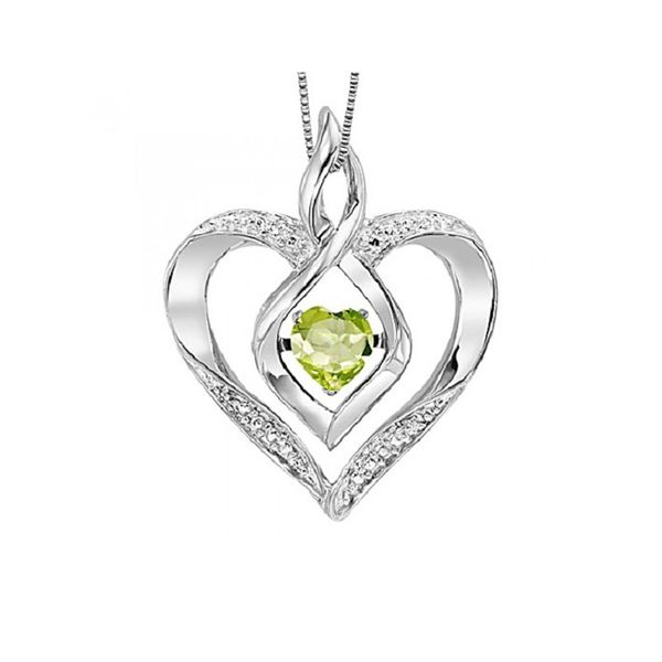 Rhythm of Love Created Peridot and Diamond Pendant E.M. Smith Family Jewelers Chillicothe, OH