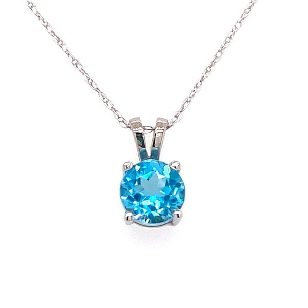 10K White Gold Blue Topaz Pendant E.M. Family Smith Jewelers Chillicothe, OH