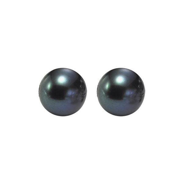 Sterling Silver Black Freshwater Pearl Stud Earrings E.M. Family Smith Jewelers Chillicothe, OH