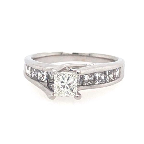 Estate Princess Cut Diamond Engagement Ring E.M. Smith Family Jewelers Chillicothe, OH