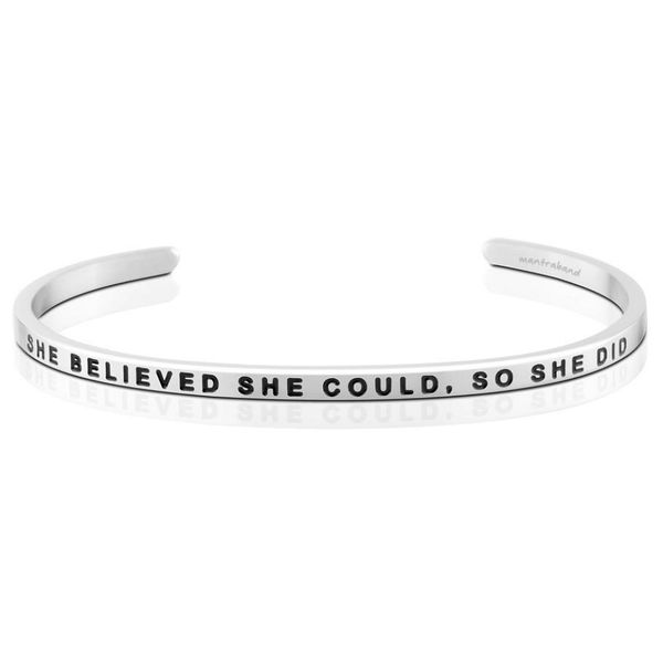 She Believed She Could Bangle Bracelet E.M. Family Smith Jewelers Chillicothe, OH